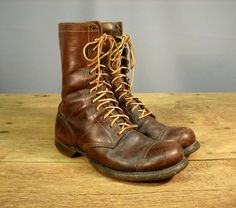 Vintage 1940s WWII Paratrooper Jump Boots