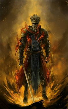 Dark Souls 3 Fanart - Red Knight by Brennan Liu on ArtStation. Dark Fantasy, Fantasy Armor, Medieval Fantasy, Medieval Knight, Sif Dark Souls, Arte Dark Souls, Dark Souls Armor, Dark Souls 3 Knight, Illustration Fantasy