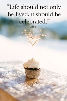 Life shouldn't be lived; it should be celebrated.