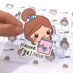 Planner Girl, Planner Die Cut, Die Cut Stickers, Planner Accessories, TN DieCuts, Card Stock, Travellers Notebook, Bullet Journal 21 Personal Planners, Cute Planner, Page Marker, All Paper, Erin Condren, Travelers Notebook, Filofax, Scrapbook Pages, Gift Tags