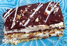 Kinder Bueno szelet | Nosalty Cake Factory, Eat Dessert First, Nutella, Tiramisu, Ale, Food And Drink, Baking, Ethnic Recipes, Drinks