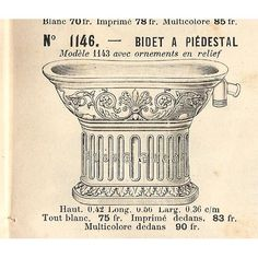 1900 bidet with embossed design by Thonet.
