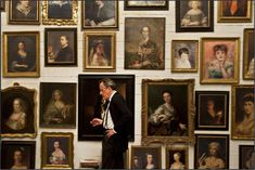 """Geoffrey Rush (Virgil Oldman) in his Happy Place Room, Alone in """"The Best Offer."""""""