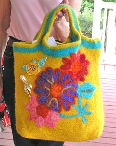 Crochet+Felt+Buetiful | crocheted felted bag