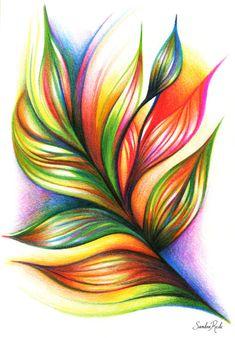 sandrarede:    Armonía/ Colored pencils on paper / Sandra Rede...
