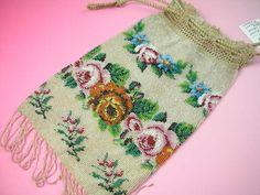 Antique&Brocante > プチポワンバッグ 他 - 1880年代ビーズパース - アンティーク雑貨のお店ROSE ROSE