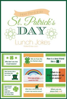 St. Patrick's Day Lunch Jokes for Kids = school lunchbox laughs! | KristenDuke.com