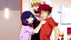 Okay but like her brother is kinda cute though Kiss Him Not Me, Kiss Me, Sanrio Danshi, Anime Land, Kissing Him, Fanart, Her Brother, The Most Beautiful Girl, Kuroko