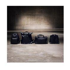 All Black   Unisex leather backpack - rucksack - travel bag . By Bagology London