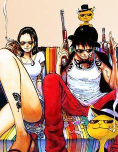 Monkey D Luffy x Nico Robin One Piece