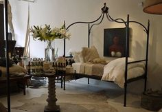 Jan Barboglio Website | jan barboglio hand forged iron safari bed with crown.