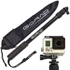 Selfie Stick for GoPro - Waterproof Telescoping Extension Pole for Hero 4 / / 3 / 2 / 1 Cameras - Aluminum Tripod Mount & Thumb Screw - Monopod Extends - - Nylon Carry Bag - Lifetime Guarantee Gopro Accessories, Photo Accessories, Gopro Pole, Gopro Camera, Plus 8, Selfie Stick, Gopro Hero, Tripod, Shopping