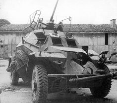 221 - This Sd. 261 took a very serious 75 mm hit at Stonne, may Pin by Paolo Marzioli Mg 34, Hors Route, Auto Union, Tank Armor, Man Of War, Military Armor, Armored Vehicles, Armored Car, Armored Fighting Vehicle