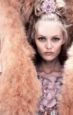 Vanessa Paradis in furry Chanel jacket
