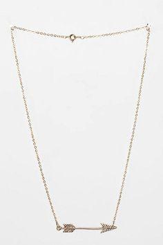 Delicate Arrow Necklace - $19
