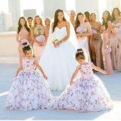 Unique A Line Scoop Lace Ball Gown Princess Flower Girl Dresses, Princess Flower Girl Dresses, Wedding Flower Girl Dresses, Little Girl Dresses, Wedding Gowns, Flower Girls, Flower Girl Gown, Baby Flower, Lace Ball Gowns, The Dress