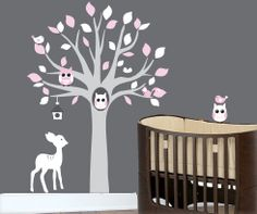 Baby wall decals nursery tree wall decal art by couture decals