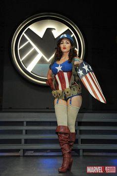 Stephanie Castro as a female Captain America (I ADORE this girl's Cap cosplay...love love LOVE!)