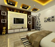 Best 35 modern TV cabinets Designs for living room interior 2019 Bedroom Furniture Design, Bedroom False Ceiling Design, Modern Tv Wall Units, Cabinet Design, Tv Room Design, Ceiling Design Living Room, Living Room Design Modern, Living Room Tv Unit Designs, Living Room Tv Wall
