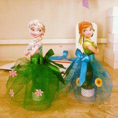 Tubete personalizado Anna e Elsa frozen fever