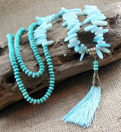 Your place to buy and sell all things handmade Wire Necklace, Green Necklace, Tassel Earrings, Beaded Jewelry, Handmade Jewelry, Jewellery, Gemstone Beads, Gemstones, Pers