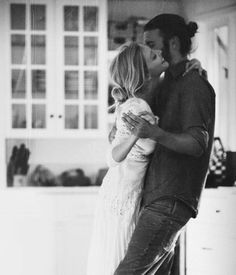 The absolute CUTEST couple dancing spontaneously in their home! This lifestyle couple photo session is so adorable I can't stop looking at these photos! Their love is so pure, it makes my heart melt All You Need Is Love, Love Is Sweet, My Love, Dancing In The Kitchen, A Well Traveled Woman, Photo Couple, Makes You Beautiful, Man Bun, Stay Young