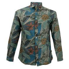 Paul Smith Jeans  Flower Tailored Dark Grey Shirt