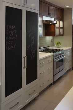chalkboard paint on pantry