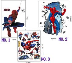 3d Spiderman wall stickers for kids rooms decals home decor personalized Kids Nursery Wall sticker decoration for Boy room - GKandAa - 1 | Pinterest | Wall ...  sc 1 st  Pinterest & 3d Spiderman wall stickers for kids rooms decals home decor ...