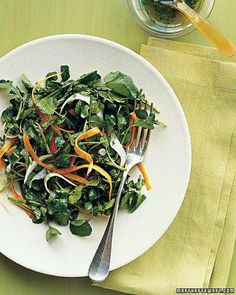 Watercress Salad with Carrots and Jicama Recipe