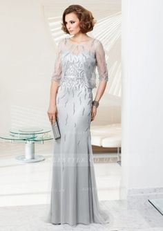 Exquisite A-line Straps Beading Sequins Sweep/Brush Train Stretch Satin