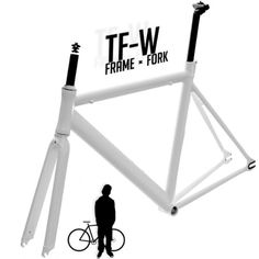 Fixed Gear Bike Frames - Track Fixie Single Speed Road Bike Frame with Fork Headset Seatpost White * Learn more by visiting the image link.