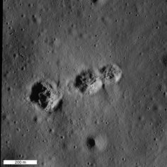 The same craters seen at late afternoon, when the Sun was low, which shows elevation features better. Image credit: NASA/GSFC/Arizona State University