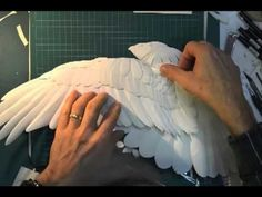 Calvin Nicholls Paper Sculpture: Stop action video of a paper sculpture being created of a hawk by paper sculpture artist Calvin Nicholls