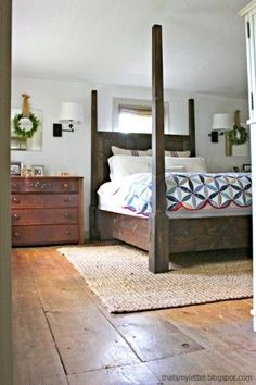 Dawsen Canopy or Poster Bed - Queen ...ok I may have to beg for this one! LOVE! And the Floors are awesome!