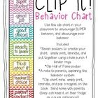 Use this fun behavior chart in your classroom!  Its designed to encourage positive behavior, and discourage poor behavior.  Simply print, laminate...