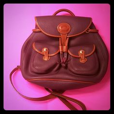 Backpack purse Its a leather strapped roomy back pack and stylish. Dooney & Bourke Bags Shoulder Bags
