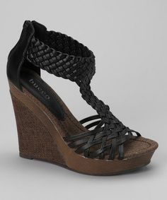 Take a look at this Black Alamea Wedge Sandal by Bucco on #zulily today!