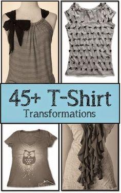 Let It Shine: 45+ T-Shirt Refashion Tutorials
