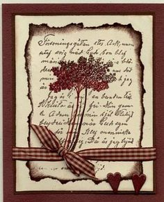 Sympathy-red embossed flower. Use Allium flower from the Long Stemmed set for a CASed card.