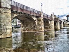 Miranda de Ebro puente Carlos III /2015 artística
