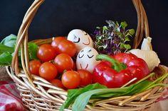 Some Vegetables in a basket