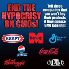 Tell these companies that you won't buy their products if they oppose GMO labeling! Take action! https://www.facebook.com/FoodDemocracyNow