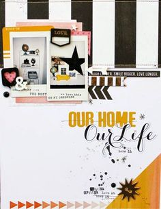 #papercrafting #scrapbook #layout my day-to-day life