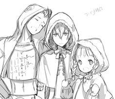 Itsuki, Ishida Mitsunari, Tokugawa Ieyasu, Sengoku Basara. Art by: halogen0 on tumblr.