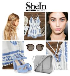"""""""SheIn Leaf Print Romper Outfit"""" by ashleyleeannclark ❤ liked on Polyvore featuring ASOS, Gap and STELLA McCARTNEY"""