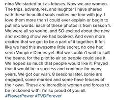 Nina Dobrev on the Vampire Diaries. So emotional!