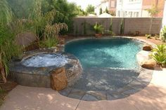 99 Comfy Backyard Designs Ideas With Swimming Pool Looks Cool Schwimmteich Small Backyard Design, Small Backyard Pools, Backyard Pool Landscaping, Backyard Pool Designs, Backyard Ideas, Garden Ideas, Garden Design, Landscaping Ideas, Backyard Playhouse