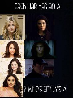 Who is Emily's??? :O - Pretty Little Liars interesting!!! lol @Rosie HW HW Paparella  they clearly all die… a lli, maya, paige haha
