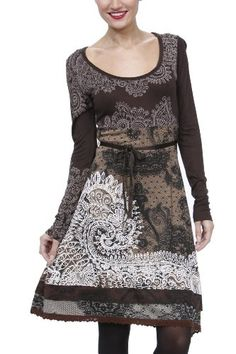 Amazon.com: Desigual Dress Brown Tisdale 27v2893/6042 Women: Clothing